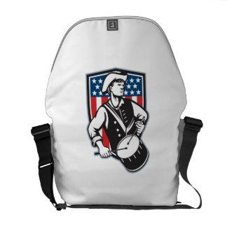 Batería americano del patriota con la bandera bolsas de mensajería