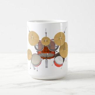 Batería anaranjada: taza de café