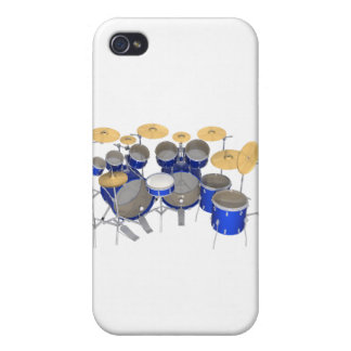 Batería azul: 10 pedazos: iPhone 4 cárcasas
