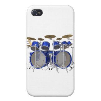 Batería azul: 10 pedazos: iPhone 4/4S carcasas