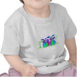 Batería colorida camiseta