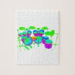Batería colorida puzzles