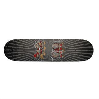 Batería de 10 pedazos: modelo 3D: Monopatín de enc Skate Boards