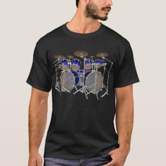 Batería de 10 pedazos: Pendiente azul: Camiseta
