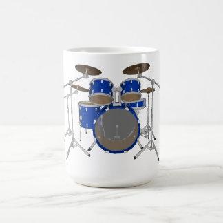 Batería de 5 pedazos - azul - taza de café -