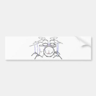 Batería de 5 pedazos: Dibujo del marcador: Etiqueta De Parachoque
