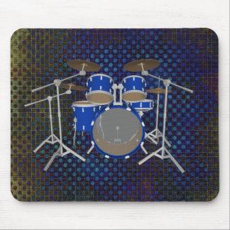 Batería de 5 pedazos - final azul - tambores Mouse Tapetes De Ratón