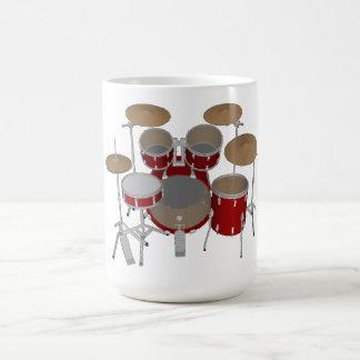 Batería de 5 pedazos - rojo - taza de café -