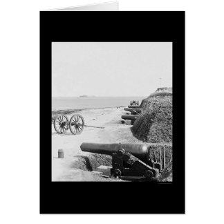 Batería de arma confederada en el fuerte Johnson Tarjeta De Felicitación