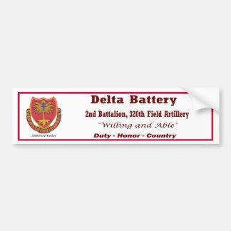 Batería de D 2do Bn 320o parachoque S de la arti Etiqueta De Parachoque