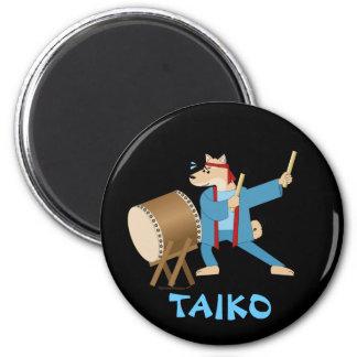 Batería de Taiko del perro del dibujo animado del Imán Redondo 5 Cm