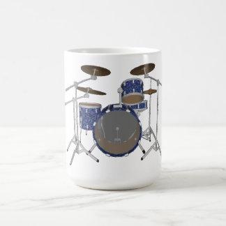 Batería del jazz Tambores azules de encargo fijad