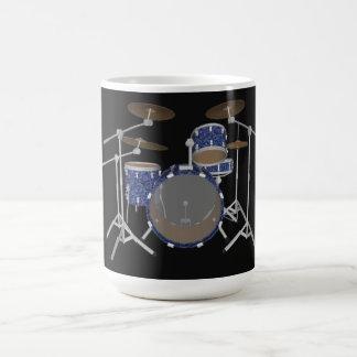 Batería del jazz: Tambores azules de encargo Taza De Café