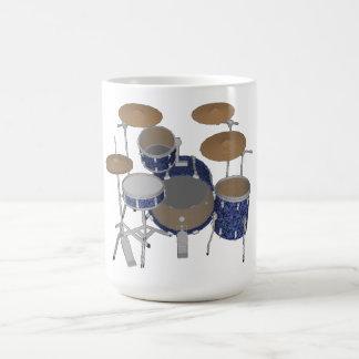 Batería del jazz - tambores azules de encargo taza de café