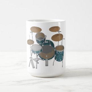 Batería del jazz: Tambores verdes de encargo Taza De Café