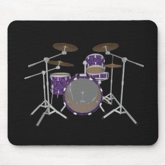 Batería del jazz - tambores violetas de encargo -  alfombrillas de raton