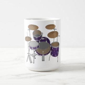 Batería del jazz: Tambores violetas de encargo Taza De Café