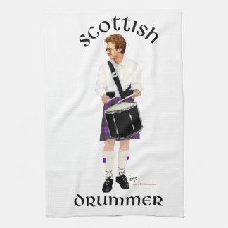 Batería escocés - falda escocesa púrpura toalla de cocina