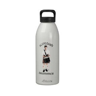 Batería escocés - falda escocesa roja botella de beber
