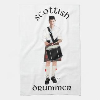 Batería escocés - falda escocesa roja toallas de mano