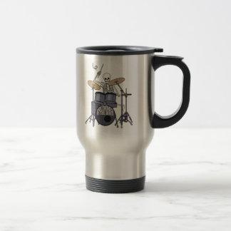 Batería esquelético taza de café