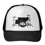 batería - gorra negro