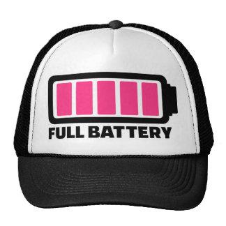 Batería llena gorro