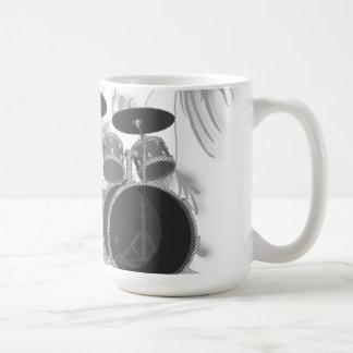 Batería (negra y blanco) - taza de café