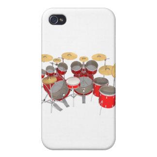 Batería roja: 10 pedazos: iPhone 4/4S carcasas