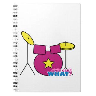 Batería - rosa cuaderno