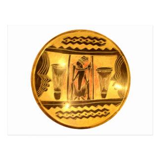 Baterías africanos rojos de oro postal
