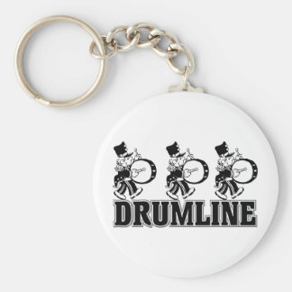 Baterías de Drumline Llavero Redondo Tipo Pin