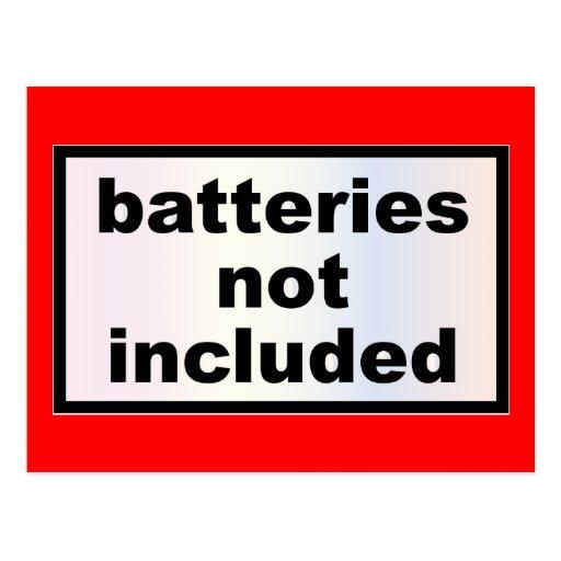 Baterías no incluidas - lema de la moda del postales