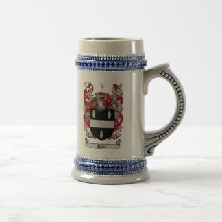 Bates Coat of Arms Stein / Bates Family Crest 18 Oz Beer Stein