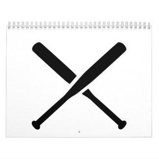 Bates de béisbol calendario