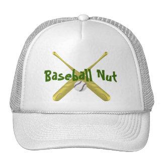 Bates de béisbol cruzados con el fondo del ~edit gorros