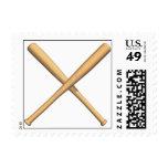 Bates de béisbol cruzados sellos