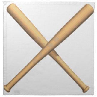 Bates de béisbol cruzados servilleta