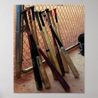 Bates de béisbol - poster