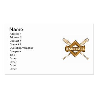 Bates de béisbol y camisetas y regalos de la bola tarjeta de negocio