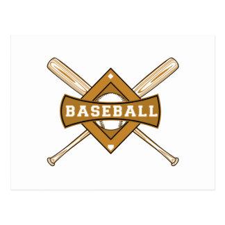 Bates de béisbol y camisetas y regalos de la bola postal