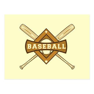 Bates de béisbol y camisetas y regalos de la bola tarjetas postales