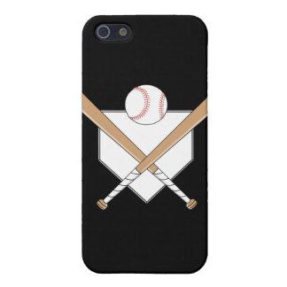 bates de béisbol y gráfico de la meta iPhone 5 funda