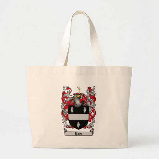 BATES FAMILY CREST -  BATES COAT OF ARMS TOTE BAGS