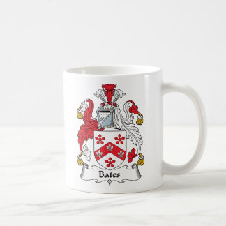 Bates Family Crest Classic White Coffee Mug
