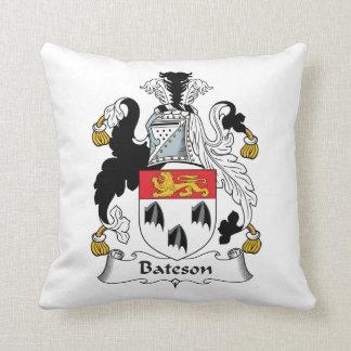 Bateson Family Crest Throw Pillows