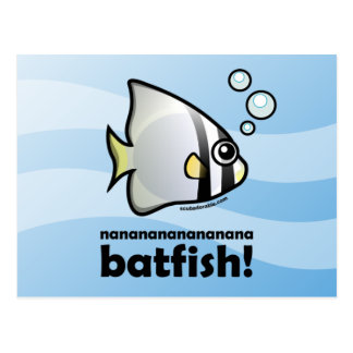 ¡Batfish del nananananananana! Tarjeta Postal