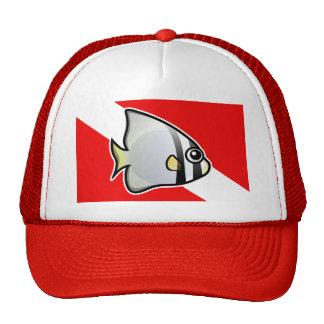Batfish Dive Flag Mesh Hats