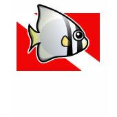 Circular Batfish Scuba Diving Flag