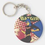 Batgirl Basic Round Button Keychain